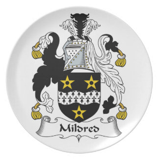 Mildred Family Crest Plates