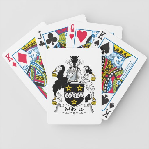 Mildred Family Crest Bicycle Poker Deck