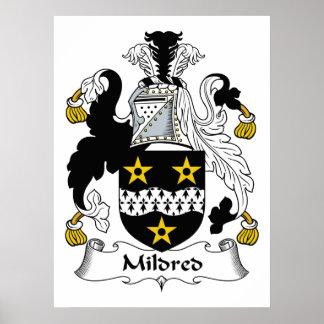 Mildred Family Crest Print