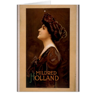 Mildred Holland Retro Theater Card