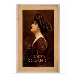Mildred Holland Retro Theater Postcard