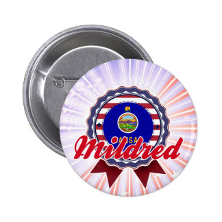 Mildred KS Pinback Buttons