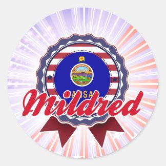 Mildred, KS Round Stickers