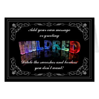 Mildred -  Name in Lights greeting card (Photo)
