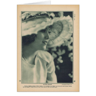 Mildred Reardon 1919 vintage portrait card