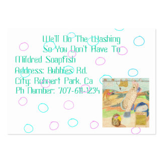 Mildred Soapfish's Wash Factory Pack Of Chubby Business Cards