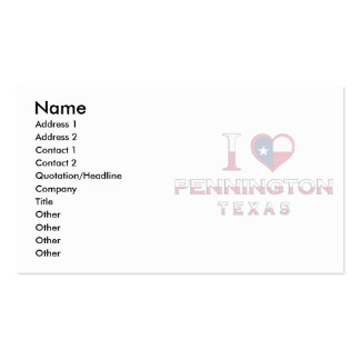 Mildred, Texas Business Card Templates