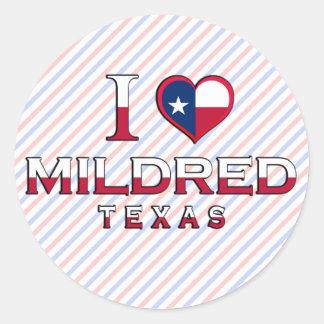 Mildred, Texas Round Stickers