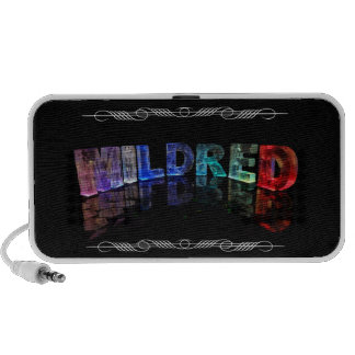 Mildred  - The Name Mildred in 3D Lights (Photogra iPhone Speaker