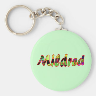 Mildred's green key chain