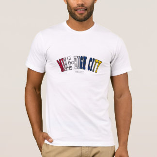 Mile-High City in Colorado state flag colors T-Shirt