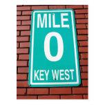 Mile Marker 0 Sign Key West  Florida Postcards