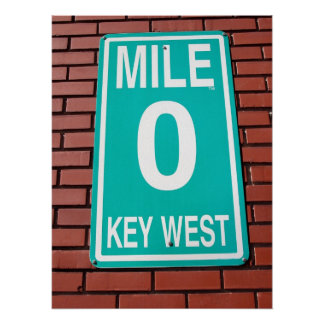 mile marker sign