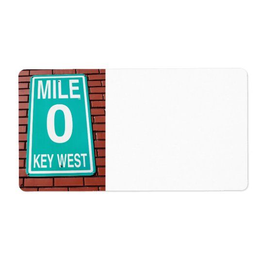 mile marker sign shipping label