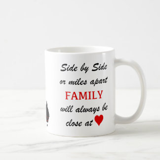 miles apart but close at heart coffee mug