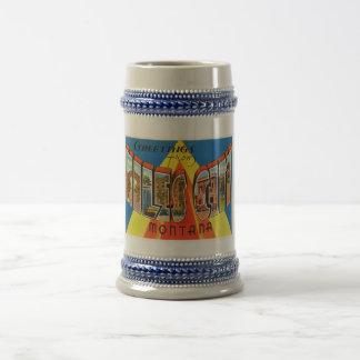 Miles City Montana MT Old Vintage Travel Souvenir Beer Stein