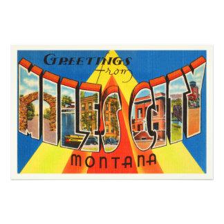 Miles City Montana MT Old Vintage Travel Souvenir Photo
