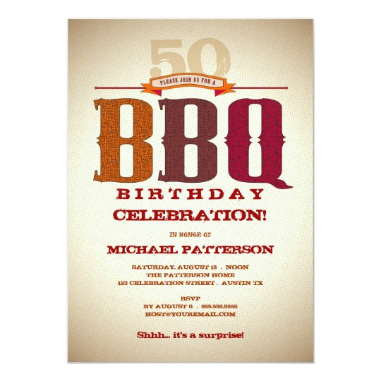 Milestone Birthday BBQ Celebration Invitation