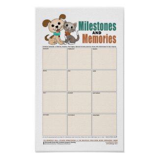 Milestones & Memories Poster