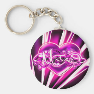 Miley Basic Round Button Key Ring