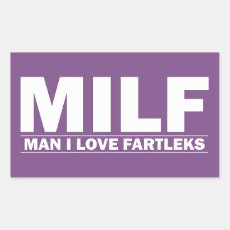 MILF (Man I Love Fartleks) Rectangular Sticker