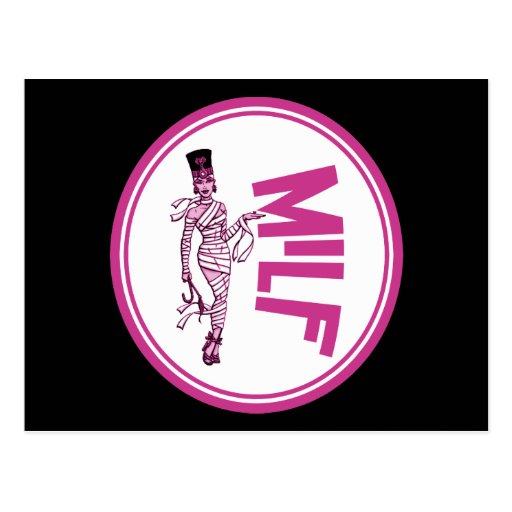 MILF Mummy Pink Postcards