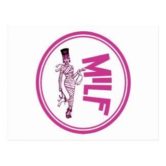 MILF Mummy Pink Postcard