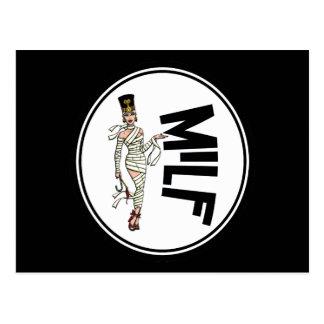 MILF Retro Mummy Pinup Girl Postcard