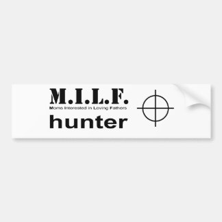 milfHunter PNG Bumper Sticker