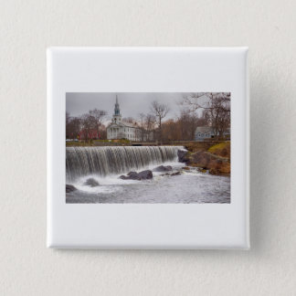 Milford, Connecticut Waterfalls 15 Cm Square Badge