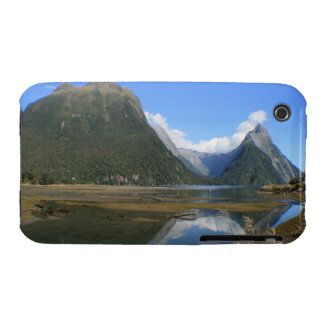 Milford Sound Bay, Mitre Peak, New Zealand iPhone 3 Cases