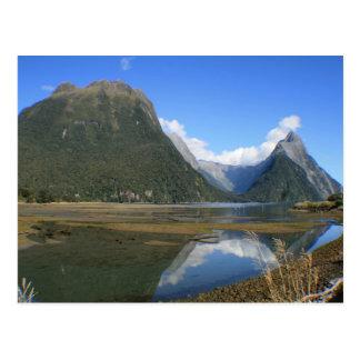 Milford Sound Bay, Mitre Peak, New Zealand Postcard
