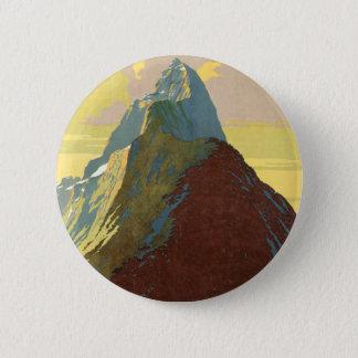Milford Sound New Zealand Mountain 6 Cm Round Badge