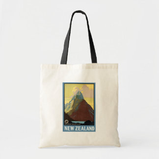 Milford Sound New Zealand Mountain Canvas Bag