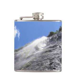 Milford Sound (Piopiotahi) Waterfall Up Close POV Flask