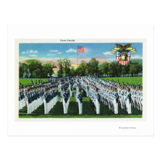 Military Academy Dress Parade Postcard
