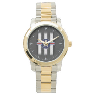 Military air corps roundel wrist watch