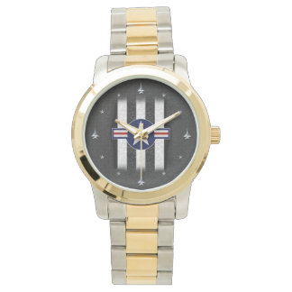 Military air corps roundel wristwatches