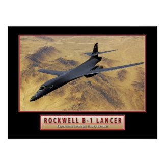 "Military Aircraft Poster ""B-1 Lancer"" 24x18"