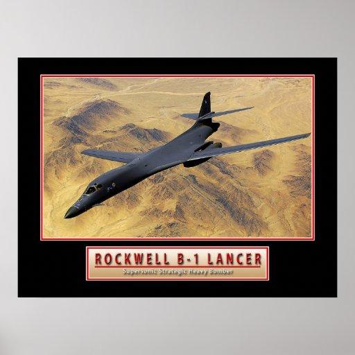 "Military Aircraft Poster ""B-1 Lancer"" 24x18"