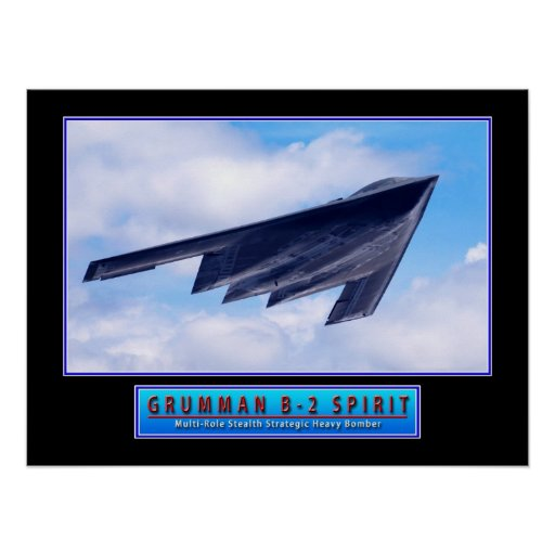 """Military Aircraft Poster """"B-2 Stealth Bomber"""" 24x1"""