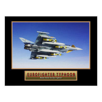"Military Aircraft Poster ""Eurofighter Typhoon"" 24x"
