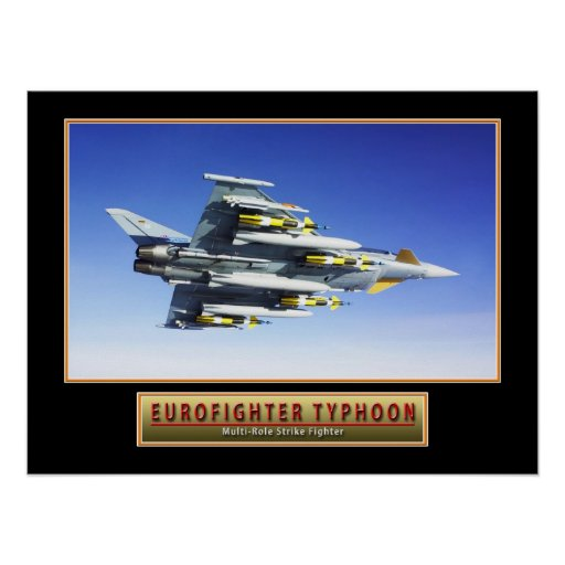 """Military Aircraft Poster """"Eurofighter Typhoon"""" 24x"""