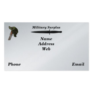 Military army navy air force marines surplus pack of standard business cards