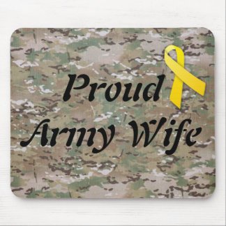 military army wife mousepad