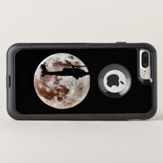 Military Attack Helicopter Against Full Moon OtterBox Commuter iPhone 8 Plus/7 Plus Case