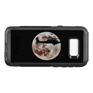 Military Attack Helicopter Against Full Moon OtterBox Commuter Samsung Galaxy S8+ Case
