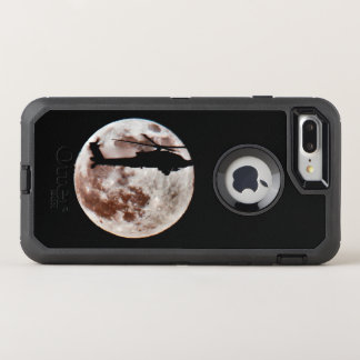 Military Attack Helicopter Against Full Moon OtterBox Defender iPhone 8 Plus/7 Plus Case