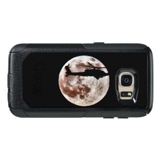 Military Attack Helicopter Against Full Moon OtterBox Samsung Galaxy S7 Case