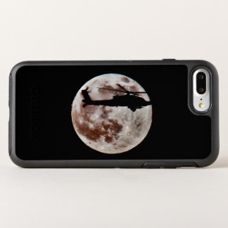 Military Attack Helicopter Against Full Moon OtterBox Symmetry iPhone 8 Plus/7 Plus Case